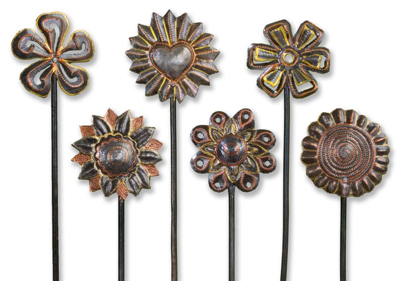 Flower Power Painted Floral Picks Set Of Six Beyond Borders Fair